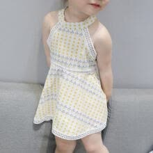 -Kids New Baby Kids Girls Summer Baby Dresses Party Birthday Cute Vestidos Clothes 1-6 T For Baby Girls on JD
