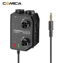 -CoMica LINKFLEX AD3 Two-channels XLR/3.5mm/6.35mm-3.5mm Audio Preamp Mixer / Adapter / Interface for 3.5mm DSLR Cameras and Smartp on JD