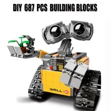 -Wall-E Robot Building Blocks Toys Compatible With Lego DIY 687 PCS ABS Plastic Educational Brick Toy Birthday Gift For Kids on JD
