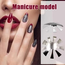 -Pro 9 Sizes Easy French Smile Cut V Line shape Tips Manicure Edge Nail Cutter on JD