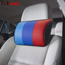 seat-cushions-2019 Brand New Arrival Car Neck Pillows Both Side PU Leather Single Headrest Fit For BMW Universal Filled Fiber Car Pillow 1Pc on JD