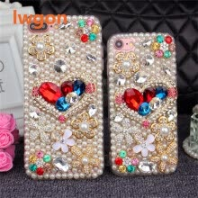 -Bling Flower Pearl Rhinestone Crystal Diamond Soft Back Cover Case For Huawei Honor 6A on JD