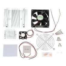 8750209-Thermoelectric Peltier Refrigeration Cooling System Kit Semiconductor Cooler Conduction Module + Radiator + Cooling Fan + TEC1-127 on JD