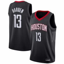 -2019 New Men's Houston Rockets #13 James Harden Red White Black Basketball Jersey Size S-XXL on JD