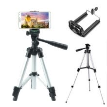 tripods-mounts-Camera tripod 360 dregee adjustable aluminium alloy phone holder extender camera tripod stand iphone on JD