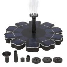 -Solar Fountain Pump With Battery Backup 2.5W Flower-shaped Freestanding Floating Brushless Water Pump for Outdoor Bird Bath Garden on JD
