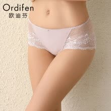 649c82703 Ou Difen underwear bra 2019 new ladies sexy lace low waist comfortable  seamless boxer briefs XP9602 lavender L