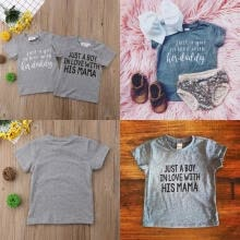 -Hot Family Matching Newborn Kids Baby Girl Boy Tops T-shirts Blouse Tee Gray Clothes on JD