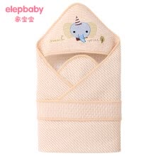 -[Jingdong Supermarket] Elephant baby (elepbaby) baby hugs newborn color cotton air layer stripes hold spring, summer and autumn thin section 90X90CM (smart icon) on JD
