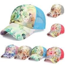 ea2fd6a95e604 SUNSIOM Womens Floral Print Hat Adjustable Snapback Trucker Golf Sport  Baseball Cap