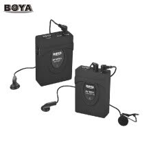 -BOYA BY-WM5 Wireless Microphone System with Transmitter Receiver Lapel Mic Earphones for Canon Nikon Sony DSLR Camcorder Audio Rec on JD