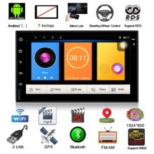 -Henhaoro 7' Android Car Stereo Gps Navigation Touch Screen Radio No DVD 2 DIN Resolution 1024x600 Head unit on JD