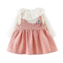 -Autumn Cute Baby Girl Tutu Dress Solid Cotton Long Sleeve Lace Shirts Blouse Strap Dresses Casual Sundress on JD
