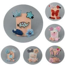 -Fashion Accessories Lovely Girl Children´s Cartoon Animal Hair Clips Cloth Card Baby Hairclip 5Pcs/Set on JD