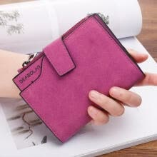 -Fashion Portable Small PU Leather Zipper Short Wallet Change Purse, Cash Coin Pocket Pouch For Students Girls on JD