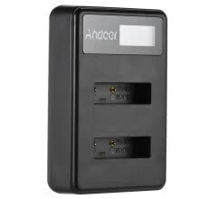 -Andoer Mini Portable Dual Slot LCD Screen USB charger for Sony NP-BX1 DSLR Li-ion Lithium Battery on JD