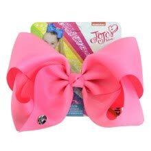 -Solid color large bow fabric ribbed polyester bow hairpin girl hair accessories on JD
