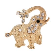 -Trendy small elephant  Brooch pin crystal Rhinestone brooches animal Brooches for women fashion brooch decoration  jewelry on JD