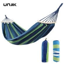 -280*150cm 2 People Portable Outdoor Canvas Camping Hammock Bend Wood Stick steady Hamak Garden Swing Hanging Chair Hangmat on JD