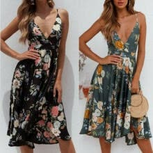-Women's Summer Sexy Floral Boho Maxi Dress Cocktail Party Evening Beach Sundress on JD