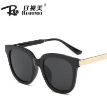 -2019 new fashion big box sunglasses Europe and the United States trend metal legs glasses men and women retro color film sunglasses on JD