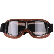 -Fashion Retro Style Vintage Motorcycle Goggles Helmet Protective Eyewear for Outdoor Sports on JD