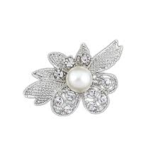 -For Necessaries Crystal Vintage Diamond Wedding Pin Brooch Flower Simple Available Party Lot on JD