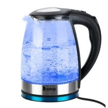 -1.8L Electric Kettle Glass Kettle Electric Tea Kettle with Removable Tea Infuser, Fast Boiling on JD