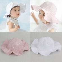 -Kids Summer Cotton Toddler Infant Sun Cap Outdoor Baby Girls Boys Sun Beach Hats on JD
