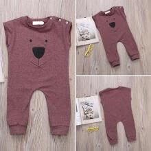 -Newborn Infant Baby Boy Girl Bear Romper Toddler Jumpsuit Bodysuit Clothes on JD