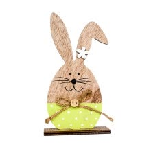 -Gobestart Easter Decorations Wooden Rabbit Shapes Ornaments Craft  Gifts on JD