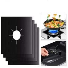 -4pcs Glass Fiber Gas Cooker Protection Pad Reusable Burner Cover Liner Mat Boiler Face Clean Pads Tools of Home Kitchen on JD
