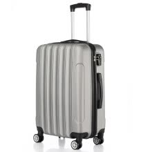 -3PCS Grey Luggage Travel Set Bag ABS Trolley Hard Shell Suitcase w/TSA lock Grey on JD