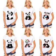-2019 New Panda Women's T-shirt Europe And The United States Hot Sale on JD