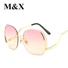 -97286specialofferfashionframelessdiamondtrimmingsunglassesladiesmarinecolortransparentblueseriessunglasses on JD