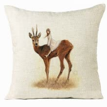 -〖Follure〗Xmas Christmas Elk Sofa Bed Home Decoration Festival Pillow Case Cushion Cover on JD