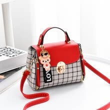 -Handbags handbags new plaid small square bag European and American fashion shoulder bag wild diagonal package on JD