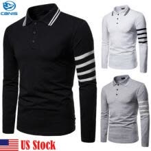 -MENS POLO SHIRT TOP LONG SLEEVE PIQUE DESIGNER PLAIN T-SHIRT TEE HORSE GOLF NEW on JD