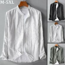 -Men's Slim Fit Shirt Long Sleeve Stylish Formal Casual Stripe T-shirt Top Blouse on JD