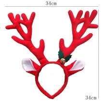 -〖Follure〗Hot Christmas Santa Claus Plush Hat Antlers Fancy Dress Costume Accessory on JD