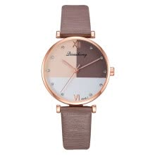 couple-watches-Multicolor mirror personality watch Roman scale fashion quartz watch direct sales on JD