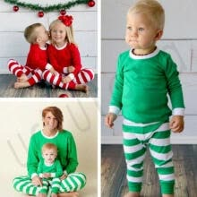 -Cute X-mas Christmas Striped Nightwear Winter Baby Kid Boy Girl Sleepwear on JD