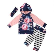 -3PCS Kids Baby Toddler Girls Flower Clothes T-shirt Tops Pants Legging Outfits on JD