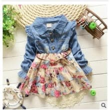 -Fashion Toddler Newborn Baby Girl Denim Summer Dress Party Pageant Casual Dress on JD