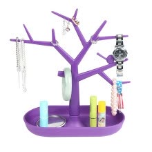 beauty-gifts-Novel Jewelry Necklace Earring ring tree Stand with bird and tray Organizer Holder Show Rack Jewelry display Tool gift makeup tool on JD