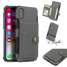 -Anti shock Protection cover for iPhone X Card Slot Phone Case 7 Pocket Luxury Wallet Mobile For iPhone 8 6 6s 7 Plus Shockproof on JD