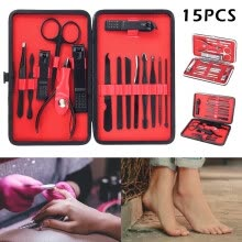 -15pcs Manicure Pedicure Set Nail Clippers Callus Remover Kit Hand Foot Care on JD