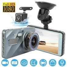 -1080P Dual Lens Car Dash Cam Front and Rear Camera Dashboard 170degree DVR Recorder on JD