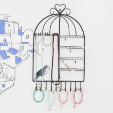 -〖Follure〗Jewelry Organizer Display Jewelry Stand Hanging Wall-Mounted Vintage Birdcage on JD