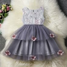 -Girl Bridesmaid Dress Baby Flower Kids Party Embroidery Wedding Dresses Princess on JD